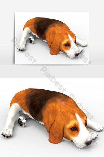Representación 3D de perro creado mediante el uso de un elemento gráfico vectorial de herramienta licuadora Elementos graficos Modelo PSD