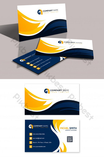 Conception élégante de carte de visite d'entreprise Modèle PSD