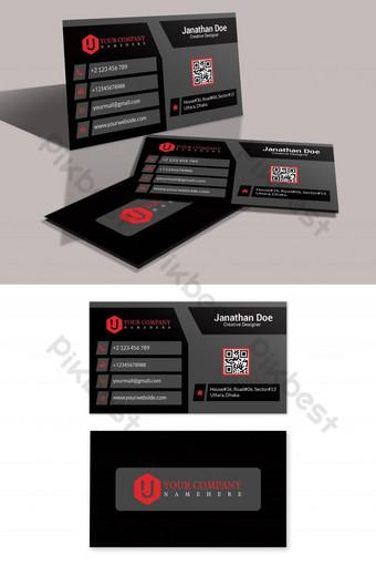Conception de cartes de visite professionnelles Modèle PSD