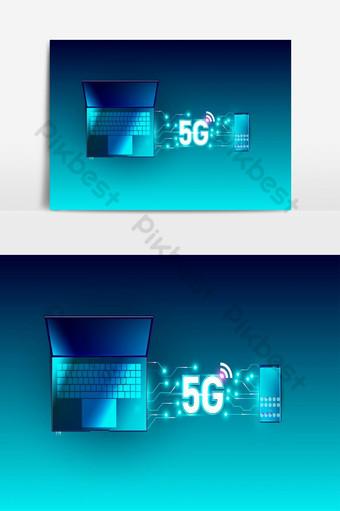 5g nova tecnologia de taxa de dados de conexão de inovação de alta velocidade de rede global Elementos gráficos Modelo AI