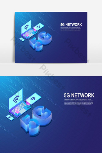Internet de red 5g conectado por elemento de gráficos vectoriales de tableta de teléfono inteligente Elementos graficos Modelo AI