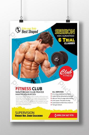 Re Shape Your Body Fitness Flyer Modèle PSD