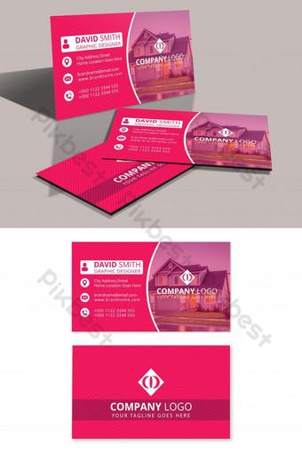 plantilla de diseño de tarjeta de visita corporativa con foto Modelo PSD