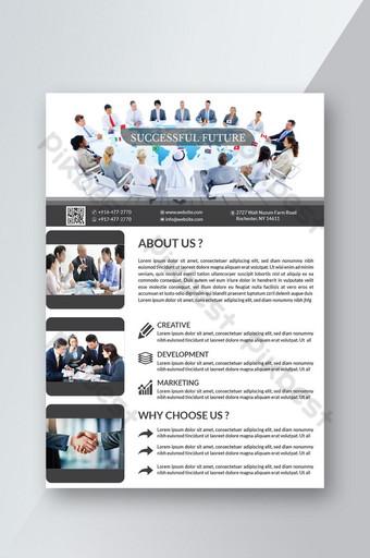 كتيب الأعمال تصميم نشرة إعلانية قالب تخطيط بحجم a4 قالب AI