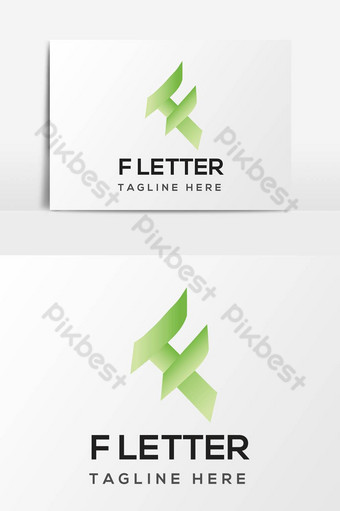 Letra logo f alfabeto diseño único elemento gráfico vectorial Elementos graficos Modelo AI