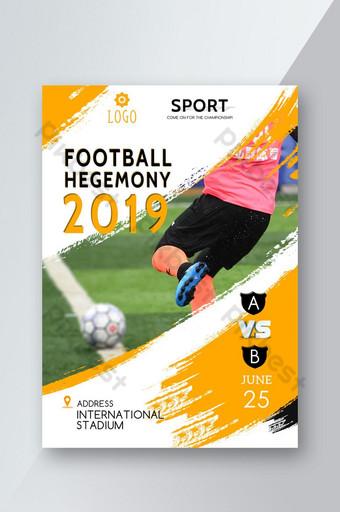 panfleto de torneio de futebol dinâmico Modelo PSD