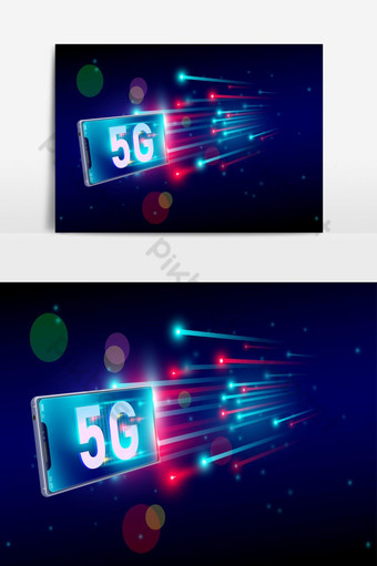5G internet fastest connection with smartphone concept 5th generation of internet PNG Images Template AI