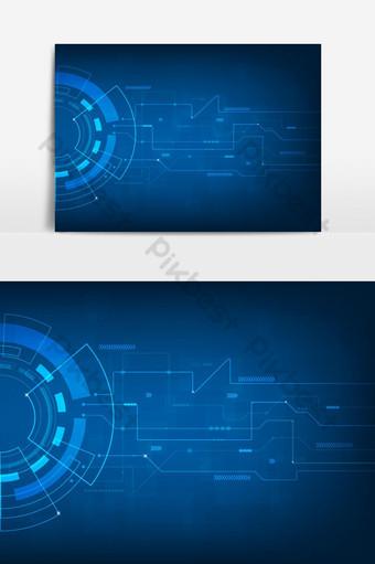 Molécula de fondo gráfico geométrico y concepto de tecnología de comunicación Elementos graficos Modelo EPS