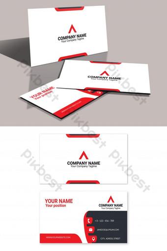 plantilla de eps de tarjeta de visita roja moderna Modelo AI