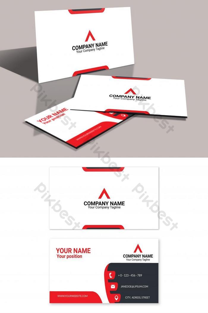เทมเพลต eps นามบัตรสีแดงทันสมัย