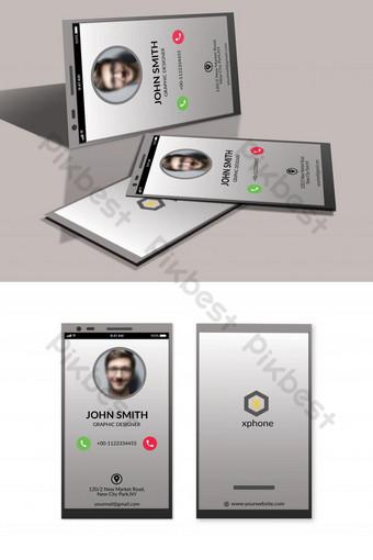 Carte de visite de conception de téléphone portable Modèle PSD