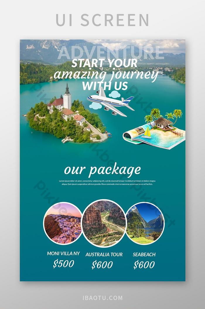 Элегантный туристический сайт psd шаблон дизайна целевой страницы