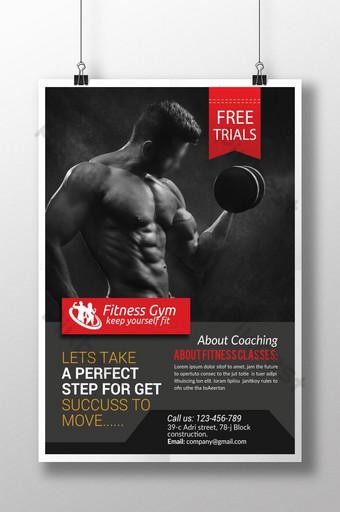 Flyer de fitness et de gym Modèle PSD