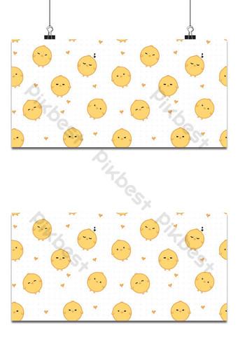 lindo, adorable, pequeño, pollo, caricatura, garabato, seamless, patrón, papel pintado, cubierta, bandera Fondos Modelo AI