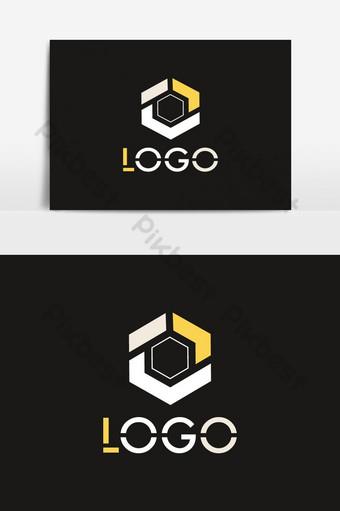 wektor logo w kształcie wielokąta Elementy graficzne Szablon AI