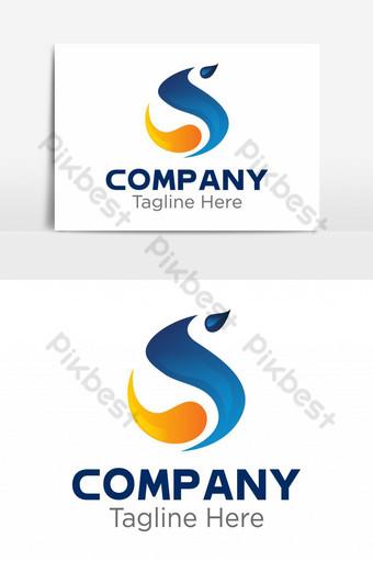 diseño de logotipo de curvas coloridas abstractas Elementos graficos Modelo EPS