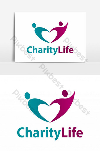 colorido diseño de logotipo en forma de corazón Elementos graficos Modelo EPS