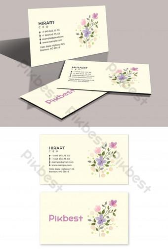 Carte de visite de beauté minimaliste et simple Modèle PSD