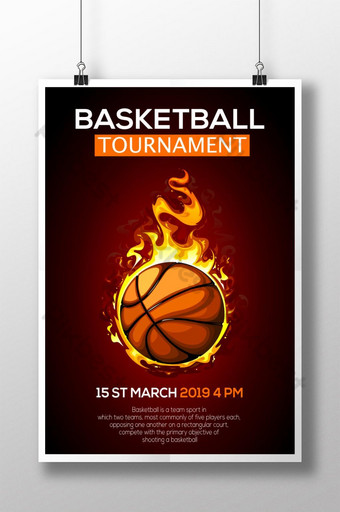 Conception d'affiche de tournoi de basket-ball Modèle AI