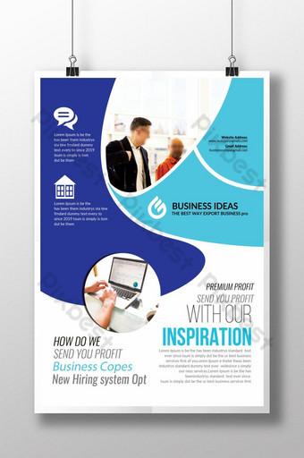 Dépliant Inspiration Business Coaching Modèle PSD