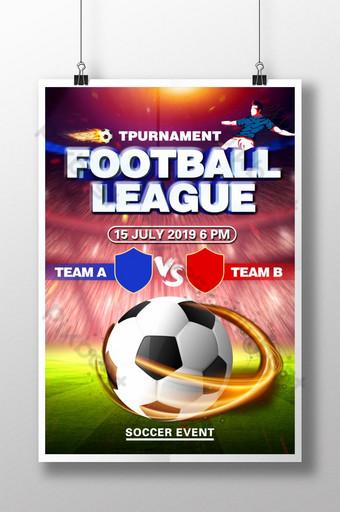pôsteres criativos de jogos de futebol Modelo PSD