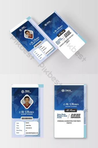Carte d'identité hautement recommandée de vecteur Premium Modèle PSD