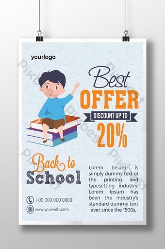 cartel de venta de regreso a la escuela Modelo AI