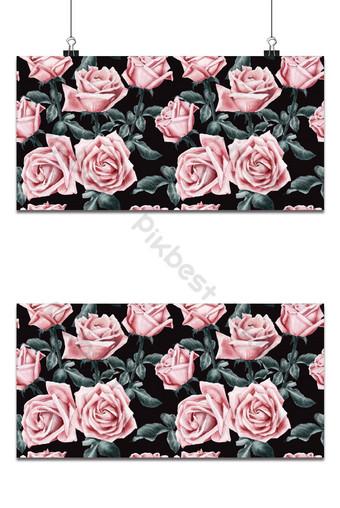patrón sin costuras rosas flores vintage acuarela vector ilustración 1 Fondos Modelo EPS