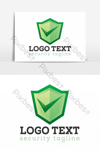 Professional Green Shield Check Logo PNG Images Template EPS