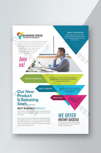 Flyer d'entreprise de style infographique Modèle PSD