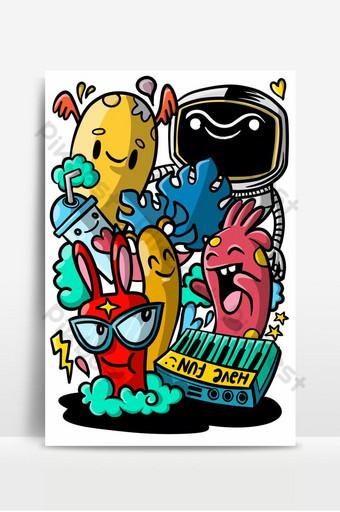 kumpulan monster lucu kumpulan monster alien lucu atau hewan fantasi untuk diraih c Latar belakang Templat EPS