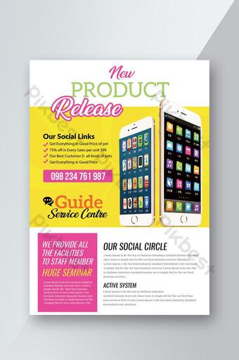 Dépliant promotionnel de lancement de nouveau produit Modèle PSD