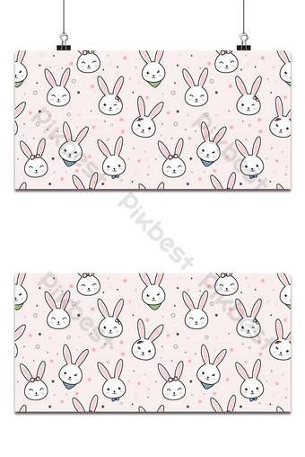 lindo adorable conejo cabeza de conejito dibujos animados doodle de patrones sin fisuras papel tapiz cubierta Fondos Modelo AI