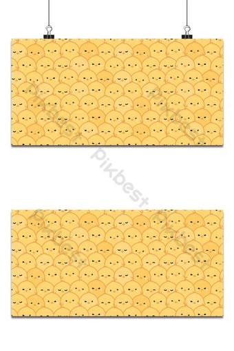 lindo, adorable, pequeño, pollo amarillo, caricatura, garabato, seamless, patrón, papel pintado, cubierta, bandera Fondos Modelo AI