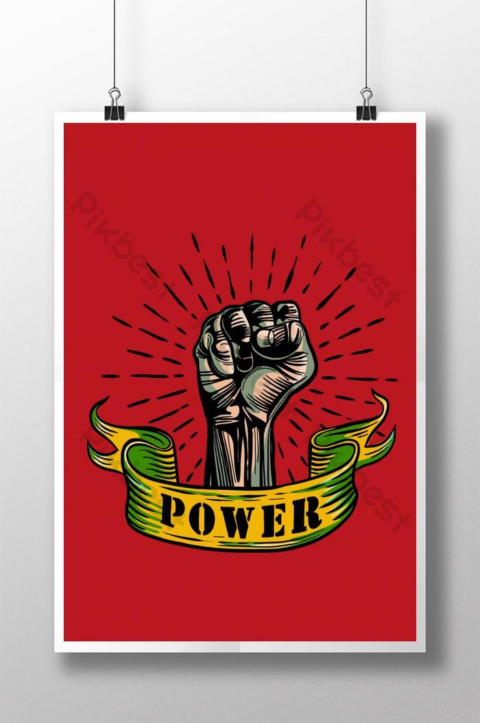 dessin vectoriel à main levée fist mâle main symbole de protestation prolétarienne power sign vector il
