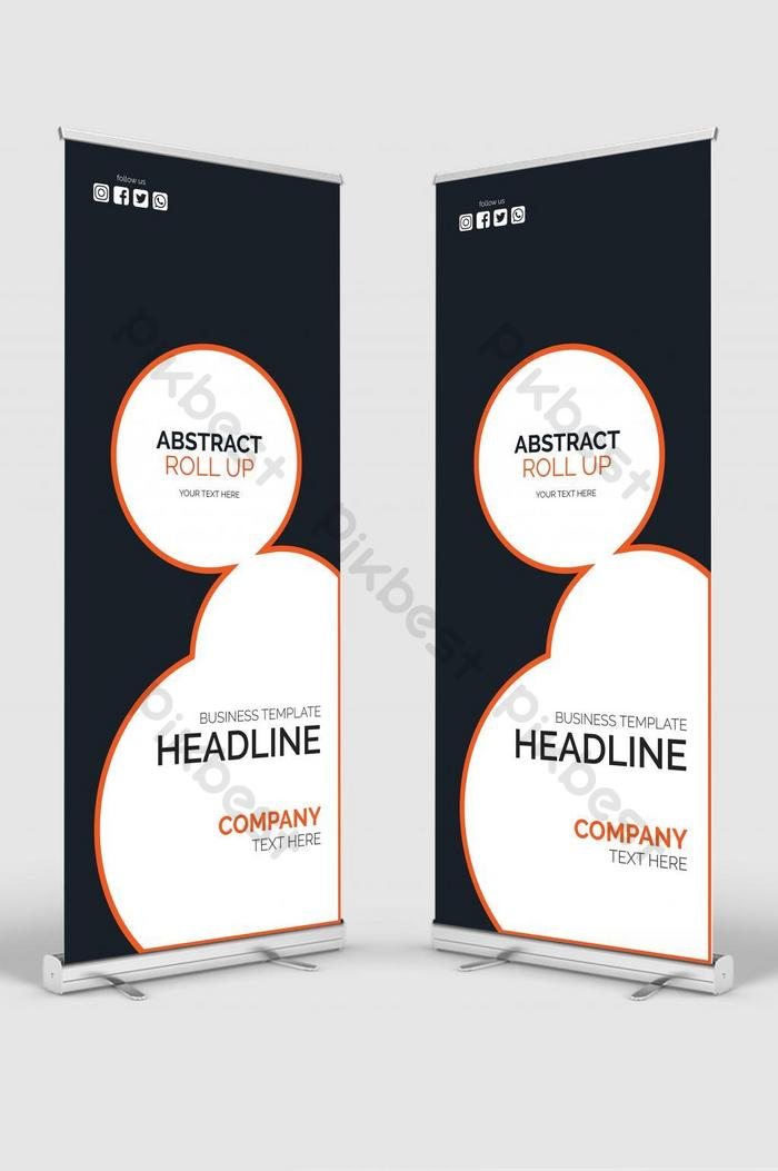 professionelles rollup-banner