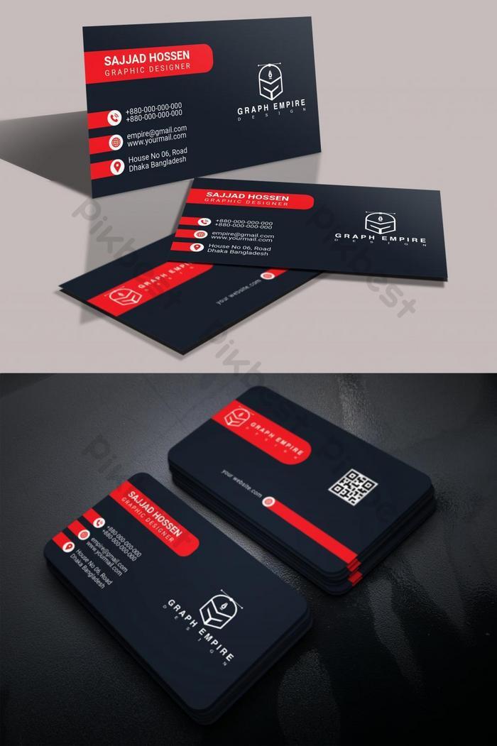 kad perniagaan merah hitam