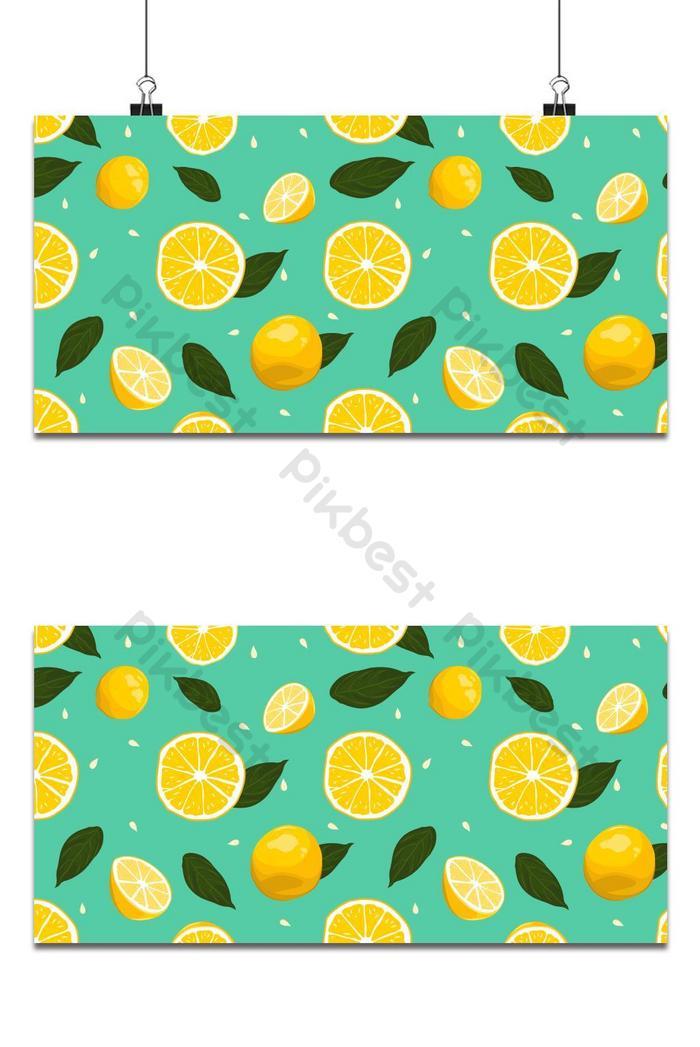 limão fresco sem costura de fundo