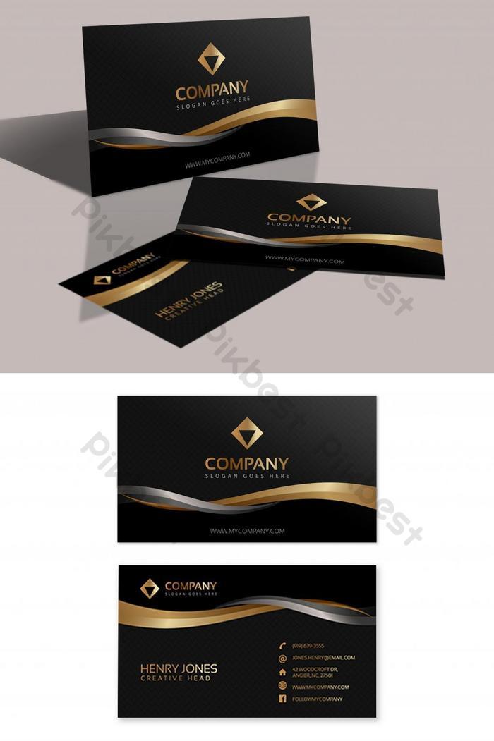 kad perniagaan vip hitam dan emas