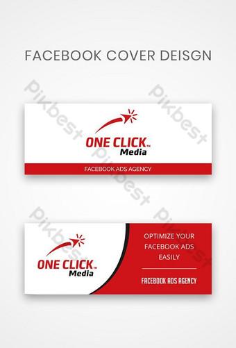 spanduk sampul facebook Latar belakang Templat PSD