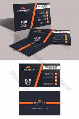 Conception de carte de visite d'entreprise impressionnante Modèle PSD