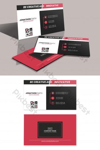 conception de carte de visite créative Modèle PSD