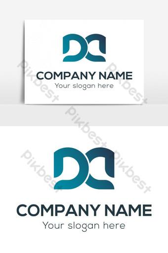 d letra logo vector design Elementos graficos Modelo AI
