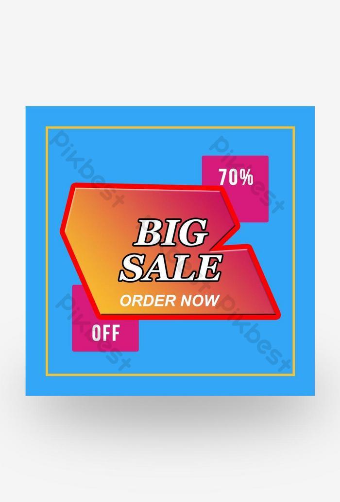 큰 판매를위한 판매 제공 배너 서식 파일 디자인