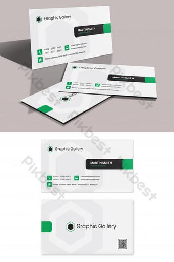 Modèle de conception de carte de visite d'entreprise Modèle PSD