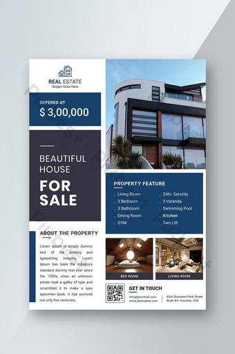 Modèle de conception de flyer de vente immobilier moderne Modèle PSD