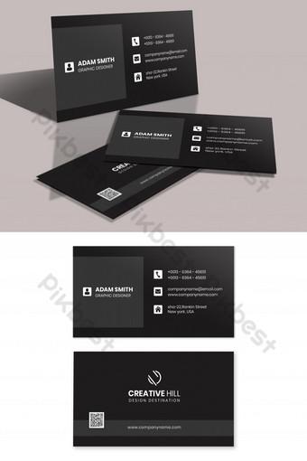 Modèle de conception de carte de visite noire simple Modèle PSD