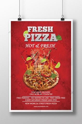 plantilla de volante de pizza Modelo PSD