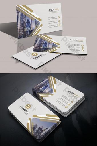 diseño de plantilla de tarjeta de visita limpia de bienes raíces Modelo PSD