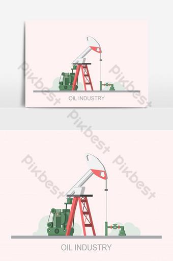 منصة النفط صناعة وقود الغاز تكنولوجيا الحفر البحري صور PNG قالب EPS